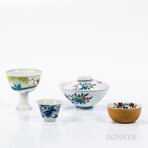 Four Porcelain Cups