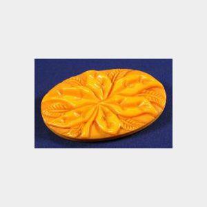 Bakelite Butterscotch Brooch
