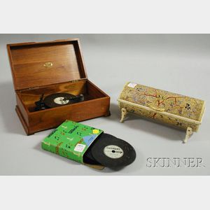 Two Small Wooden Musical Boxes
