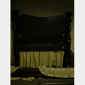 Classical Revival Carved Mahogany Bed