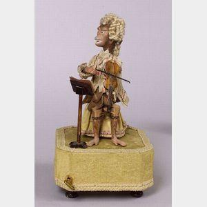 Monkey Musician Automaton by Farkass
