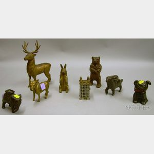 Eight Cast Iron Figural Still Banks