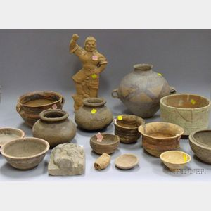 Group of  Chinese Archaic-Style Pottery Items