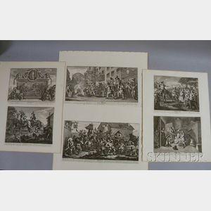 William Hogarth (British, 1697-1764)      Suite of Twelve Engravings from Hudibras   by Samuel Butler.