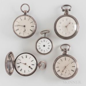 Five Early Key-wind Watches
