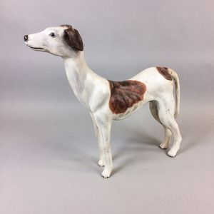 Carved and Painted Wood Italian Greyhound