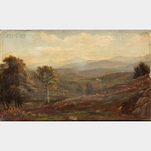 Attributed to John Christopher Miles (American, 1837-1911)      Landscape, Possibly a View of the White Mountains