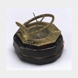 Brass Universal Equinoctial Sundial by Johan Schrettegger