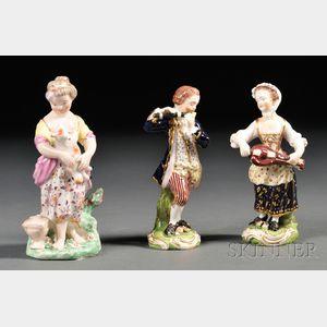 Three Bloor Derby Porcelain Figures