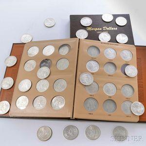 Seventy-six Morgan Dollars