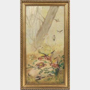 American School, 20th Century      Wooded Landscape with Birds