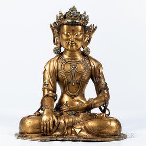 Gilt-bronze Figure of Bodhisattva