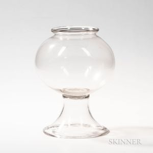 Blown Glass Fishbowl on Stand