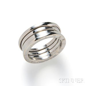 "18kt White Gold ""B.zero1"" Ring, Bulgari"