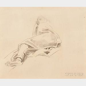 John Singer Sargent (American, 1856-1925)      Reclining Figure