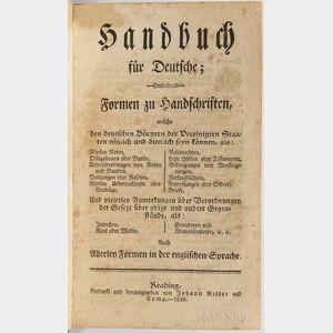 Handbuch fur Deutsche.