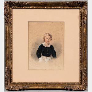 American/European School, 19th Century      Portrait of a Child.