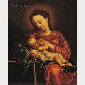 Continental School, 16th/17th Century Style      Madonna and Child