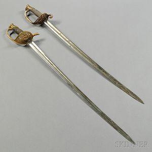 Two U.S. Civil War-era Swords