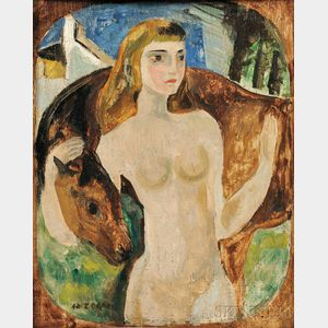 Marguerite Thompson Zorach (American, 1887-1968)      Girl and Pony