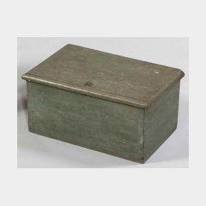 Blue-green Painted Pine Medicine Box