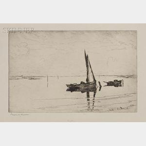 Frank Weston Benson (American, 1862-1951)      Off Pea Island