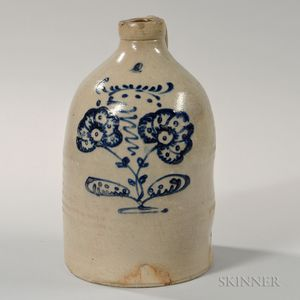 Cobalt-decorated Four-gallon Stoneware Jug