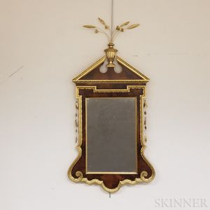 Federal-style Carved and Parcel-gilt Mahogany Mirror