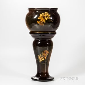 Art Pottery Jardiniere and Stand
