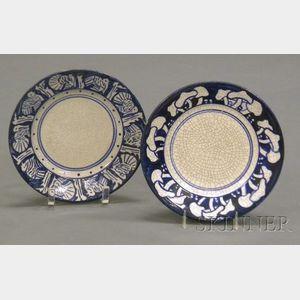 Dedham Pottery Turkey and Mushroom Plates