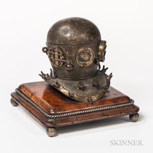 Brass Diving Helmet-form Inkwell
