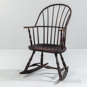 Painted Sack-back Windsor Rocking Chair
