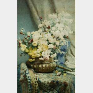 Joseph Carl Paul Schuller (French, 19th Century)  Floral Still Life