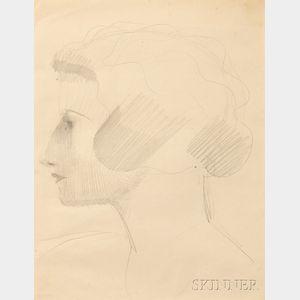 Elie Nadelman (American, 1885-1946)      Woman's Head in Profile