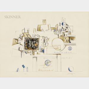 Saul Steinberg (American, 1914-1999)      Braque