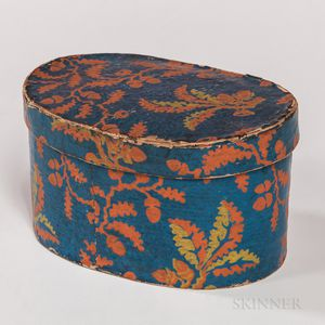 Small Blue and Orange Wallpaper Box