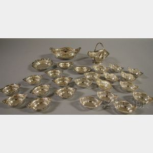 Group of Small Sterling Sweetmeat Dishes and Nut Dishes