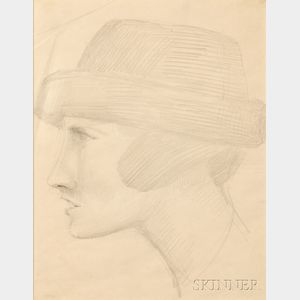 Elie Nadelman (American, 1885-1946)      Ideal Head #1