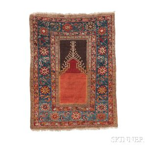 Central Anatolian Prayer Rug