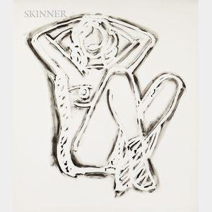 Tom Wesselmann (American, 1931-2004)      Rosemary Sitting Up Straight