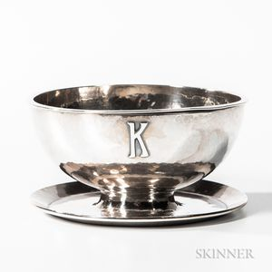 Kalo Shops Sterling Silver Butter Dish