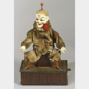 Lever-Operated Clown Juggler Automaton