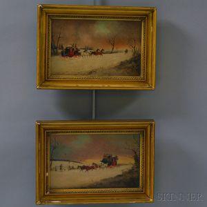 Philip H. Rideout (British, fl. 1880-1912)      Two English Coaching Scenes.