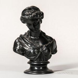Wedgwood Black Basalt Bust of Venus