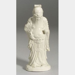 Staffordshire White Saltglaze Figure