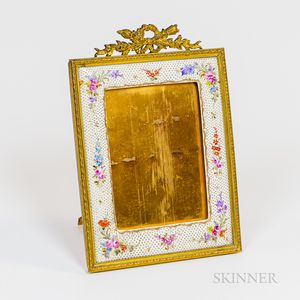 Gilt Bronze and Enameled Picture Frame