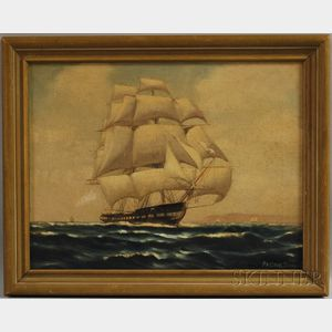 American School, 20th Century      Ship in Full Sail