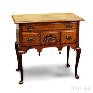 Queen Anne-style Carved Maple Dressing Chest