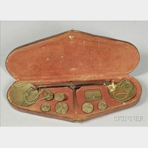 Pocket Coin Balance in Leather Case