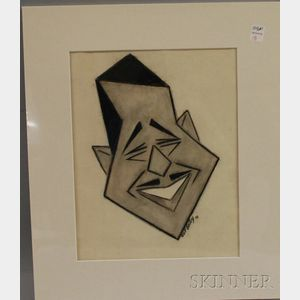 Calvin Bailey (b. 1915), Charcoal on Paper Portrait of Duke Ellington